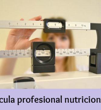 Bascula profesional nutricionista